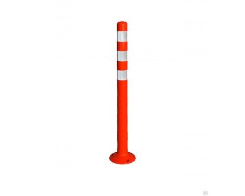 Пластиковый парковочный столбик 1000 мм. / гибкий, разделительный столбик