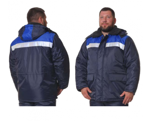 Куртка зимняя Стандарт СОП(тк.Оксфорд), т.синий/васильковый