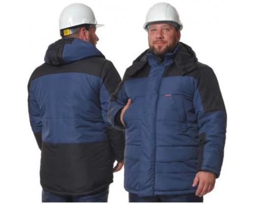 Куртка зимняя СИТИ (тк.Дюспо), синий/черный