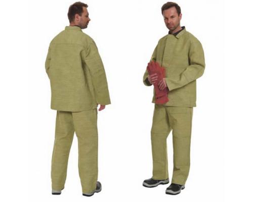 Костюм сварщика 1 кл.защиты с накладками из брезента (тк.Брезент, 480 гр/м.кв), оливковый