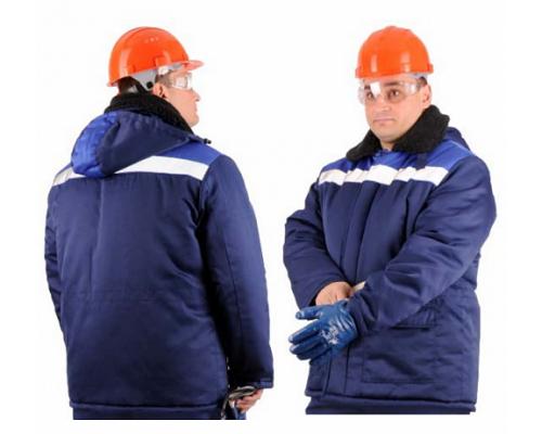 Куртка зимняя БРИГАДИР СОП (тк.Грета), т.синий/васильковый