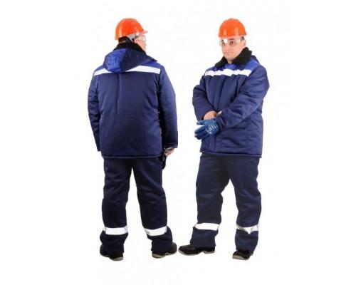 Костюм зимний БРИГАДИР СОП (тк.Смесовая,210) брюки, т.синий/васильковый