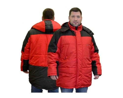 Куртка зимняя СИТИ (тк.Дюспо), красный/черный