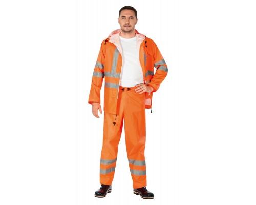 Костюм мужской влагозащитный ПВХ Extra Vision WPL флуоресцентный оранжевый