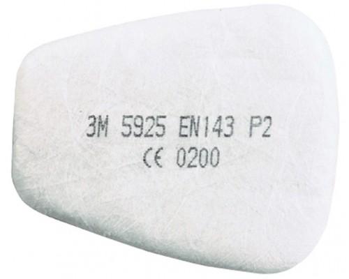 Предфильтр 3М™ 5925 (P2) противоаэрозольный, до 12 ПДК (2шт)