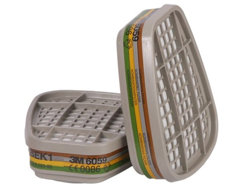 Фильтр 3М™ 6059 (АВЕК1) орган., неорган., кислые газы, аммиак (2шт)