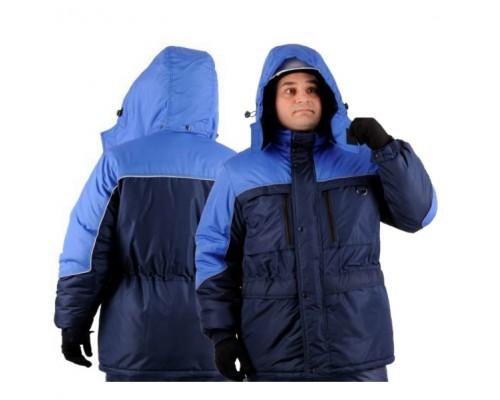 Куртка зимняя ВЕГА (тк.Таслан), т.синий/васильковый