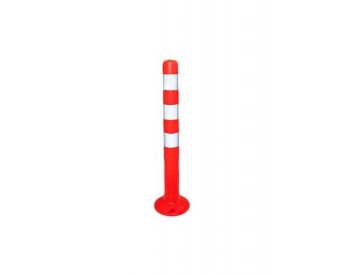 Пластиковый парковочный столбик 750 мм. / гибкий, разделительный столбик