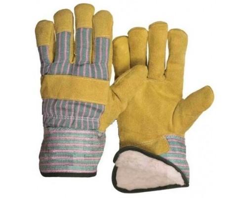 Перчатки спилковые комбинированные утепл.(синтепон) (тип АНГАРА)