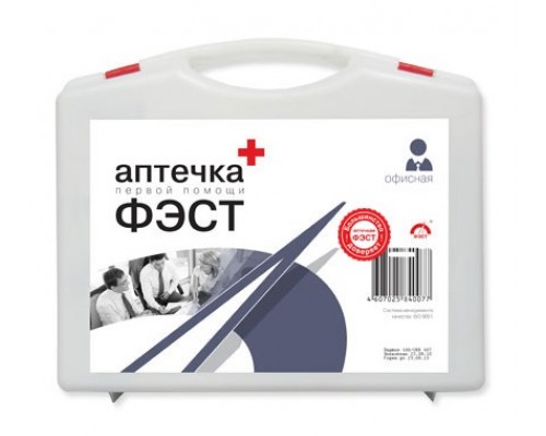 Аптечка ФЭСТ офисная футляр из полистирола 285x255x100 №5.1 (арт.1016)