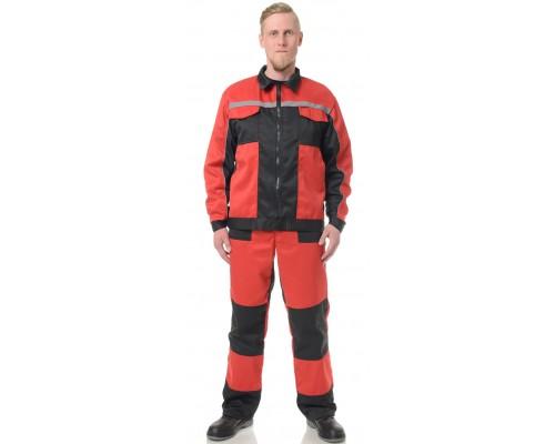 Костюм Бригадир-2 (тк.Смесовая,210) ПРАБО, красный/черный