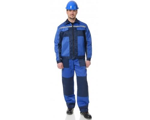 Костюм Бригадир-2 (тк.Смесовая,210) ПРАБО, васильковый/синий