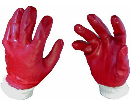 Перчатки Гранат МБС полный облив ПВХ манжет резинка