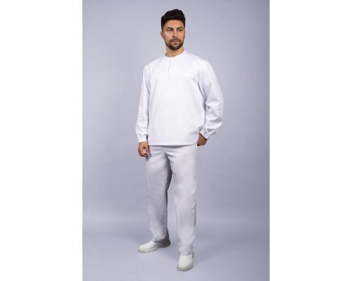 Костюм мужской ХАССП-Стандарт (ткань Оптима, 160), белый