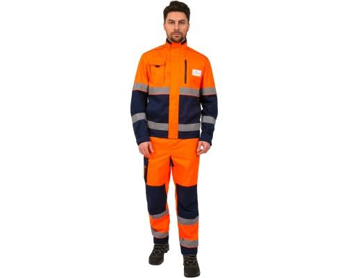Костюм дорожник Сигнал-1 (тк.Балтекс,210) брюки, оранжевый/т.синий