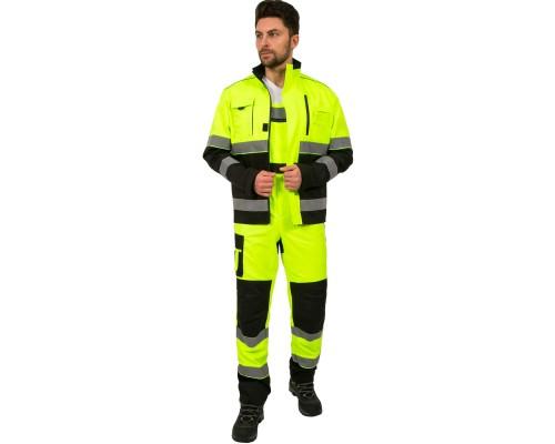 Костюм дорожник Сигнал-2 (тк.Балтекс,210) п/к, лимонный/черный
