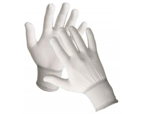 Перчатки нейлоновые, белые