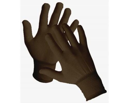 Перчатки нейлоновые, коричневые