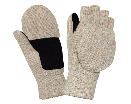 Перчатки-варежки АЙСЕР со спилковыми накладками (утеп.Тинсулейт)