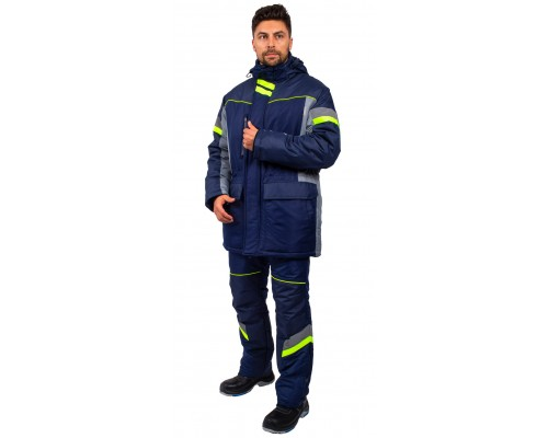 Куртка зимняя PROFLINE SPECIALIST (тк.Таслан), серый/т.синий