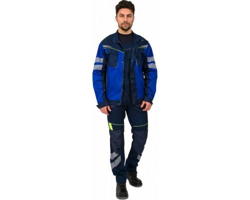 Куртка укороченная мужская PROFLINE SPECIALIST (тк.Протек,240), т.синий/васильковый