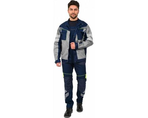 Куртка укороченная мужская PROFLINE SPECIALIST (тк.Протек,240), т.синий/серый