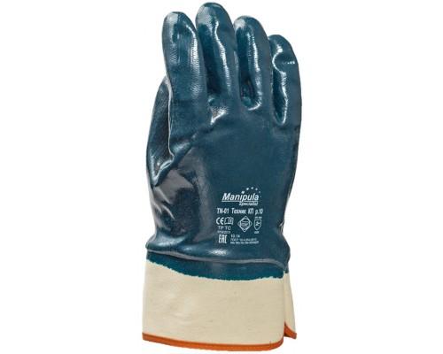 Перчатки Манипула™ Техник КП (джерси+нитрил), TN-01/MG-224