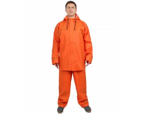 Костюм влагозащитный рыбака Волга-500 (ПВХ,500) WPL, оранжевый