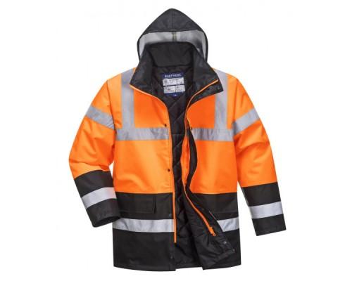 Зимняя светоотражающая куртка Portwest S467 оранжевый-черный